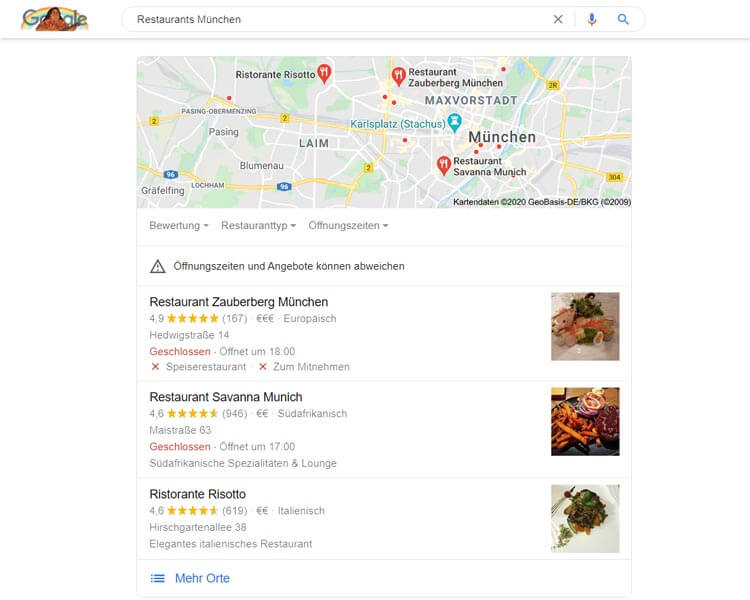 GMB restaurants